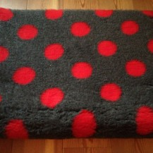 Original Vetbed Isobed SL grau mit rot Punkten  100x150