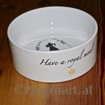 Keramiknapf Hundekönig weiß