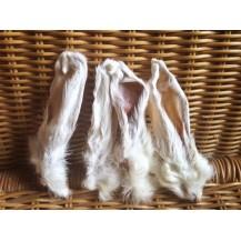 Kaninchenohren  mit Fell 4 Stück